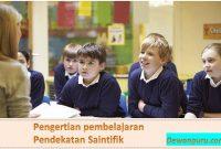 Pengertian pembelajaran Pendekatan Saintifik