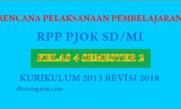 rpp tematik sd/mi kelas 4 semester 2 kurikulum 2013