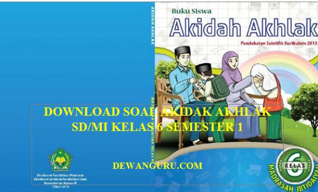 download soal akidah akhlak kelas 6