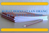 format surat pernyataan orang tua / wali pada ppdb