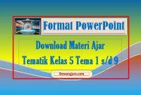 materi ajar powerpoint tematik kelas 5 tema 1-9