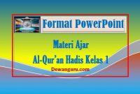 materi al-qur'an hadis powerpoint kelas 1
