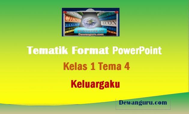 materi tematik format powerpoint kelas 1 tema 4