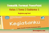 tematik format powerpoint kelas 1 tema 3 subtema 1