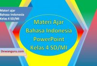 download materi ppt bahasa indonesia kelas 4 SD-MI