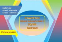 format PowerPoint bahasa indonesia kelas 1 rekreasi