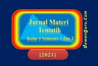 jurnal harian tematik kelas 4 [2021] [update