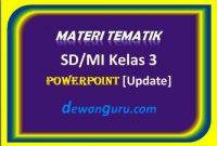 materi tematik sd/mi kelas 3 powerpoint [update]