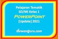 pelajaran tematik sd-mi kelas 1 powerpoint [update] 2021