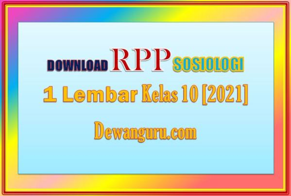 download rpp sosiologi 1 lembar kelas 10 [2021]