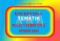 kisi-kisi soal tematik kelas 1 semester 2 update 2021