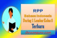 rpp bahasa indonesia daring 1 lembar kelas 8