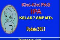 kisi - kisi pas IPA kelas 7 SMP MTs update 2021