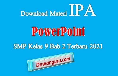 download materi IPA PowerPoint SMP kelas 9 bab 2