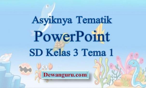 Asyiknya Tematik PowerPoint SD Kelas 3 Tema 1