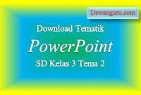 Download Tematik PowerPoint SD Kelas 3 Tema 2
