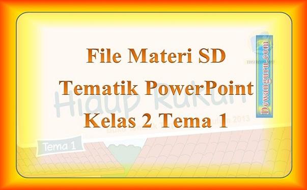 File Materi SD Tematik PowerPoint Kelas 2 Tema 1