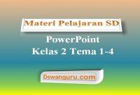 Materi Pelajaran SD PowerPoint Kelas 2 Tema 1-4