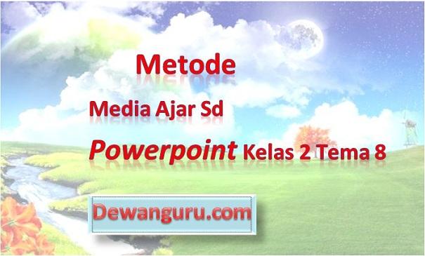 Metode Media Ajar SD PowerPoint Kelas 2 Tema 8