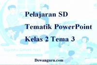 Pelajaran SD Tematik PowerPoint Kelas 2 Tema 3
