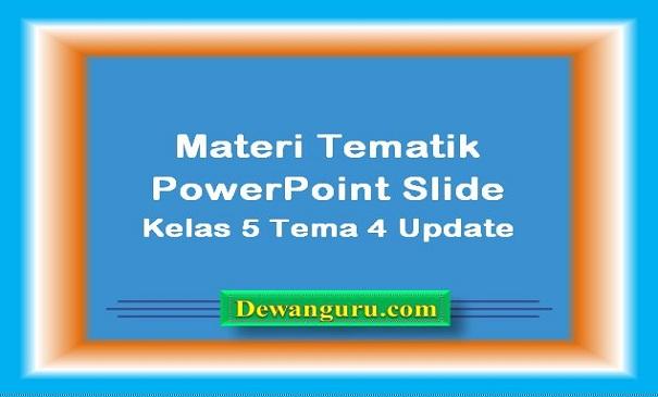 Tematik PowerPoint Slide Kelas 5 Tema 4 Update