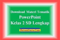Download Materi Tematik PPT Kelas 2 SD Lengkap