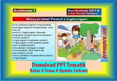 Download PPT Tematik Kelas 6 Tema 6 Update Terbaru