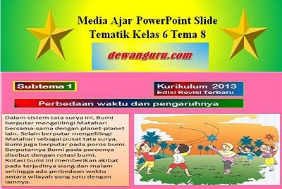 Media Ajar PowerPoint Slide Tematik Kelas 6 Tema 8