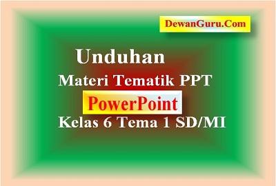 Unduhan Materi Tematik PPT Kelas 6 Tema 1 SD MI